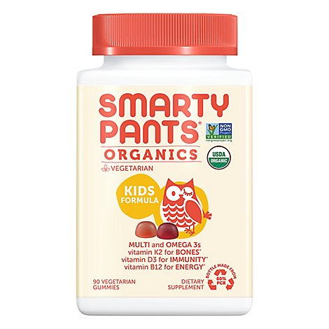 Smartypants Kids Complete Vitamins Orgnc - 90 CT