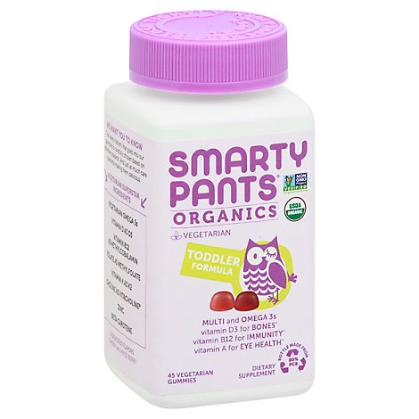 Smartypants Toddler Complete Orgnc Vtmns - 45 CT