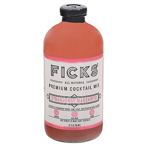 Ficks Mixer Strawberry Margarita - 32 OZ