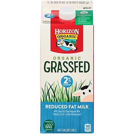 Ho Up Milk 2% Grassfed Ca Org - .5 GA