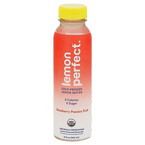 Lemon Perfect Water Strwbry Psnfrt Orgnc - 12 FZ