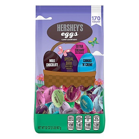 Hshy Astd Candy Eggs Gusset - 32 OZ