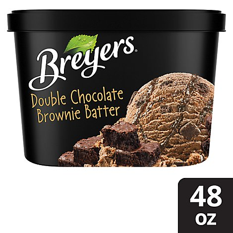Breyers Ice Cream Double Chocolate Brownie Batter Swirl - 1.5 QT