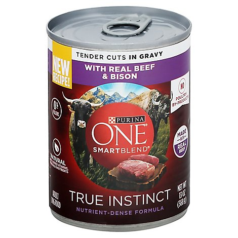 Purina One Smartblend True Instinct Gravy Beef & Bison - 13 OZ
