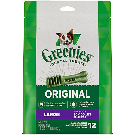 GREENIES Dental Treats For Dogs Original Large - 18 Oz