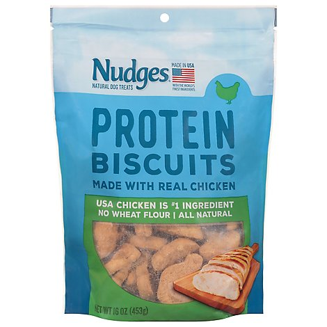 Nudges Natural Dog Treats Biscuits With Real Chicken - 16 OZ