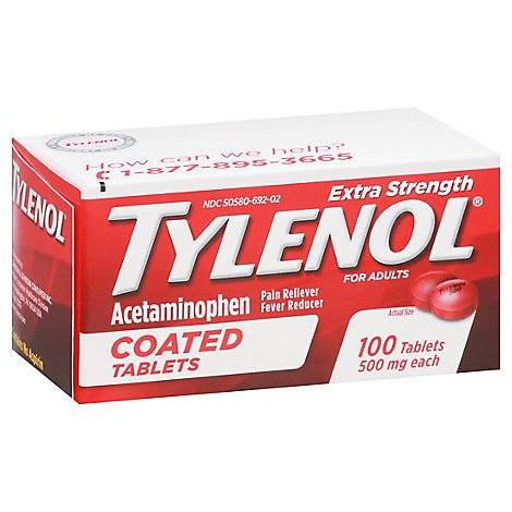 Tylenol Extra Strength Tablets - 100 CT