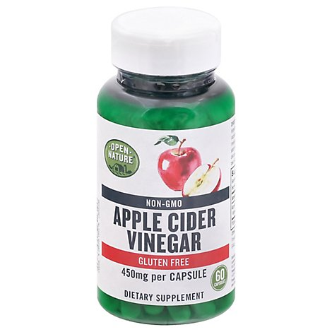 Open Nature Dietary Supplement Apple Cider Vinegar 450mg - 60 CT