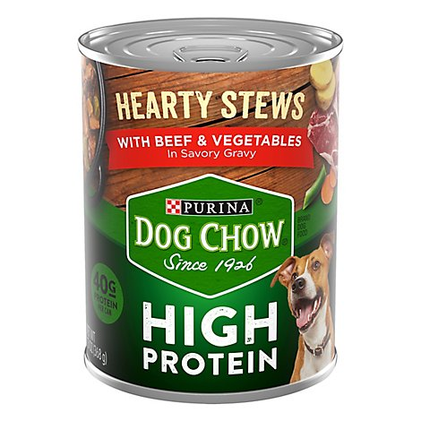 Purina Dog Chow High Protein Hearty Beef - 13 OZ