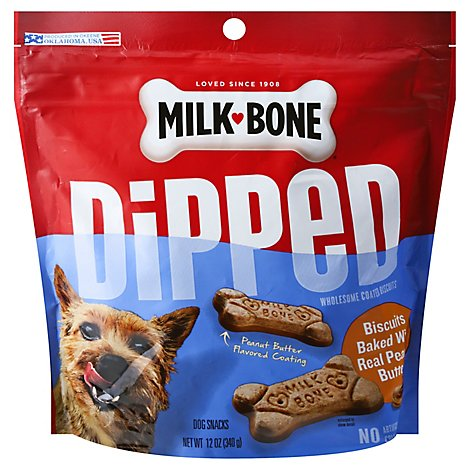 Milk Bone Dipped Peanut Butter - 12 OZ