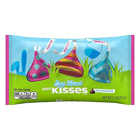 Hshy Mlk Choc Egg Hunt Kiss - 11 OZ