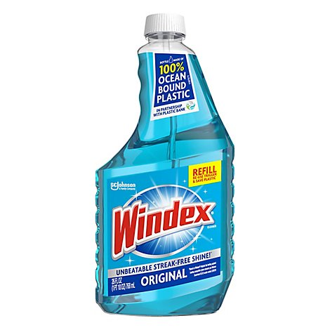 Windex Cleaner Glass Refill Original Blue - 26 Fl. Oz.