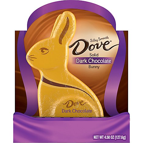 Dove Chocolate Candy Solid Dark Chocolate Easter Bunny Box - 4.5 Oz