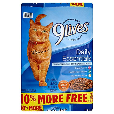 9 Lives Daily Essentials Cat Food - 13.2 LB