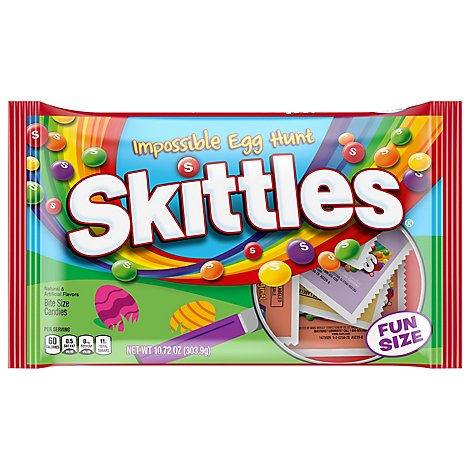 Skittles Candy Original Impossible Egg Hunt Fun Size Easter - 10.72 Oz