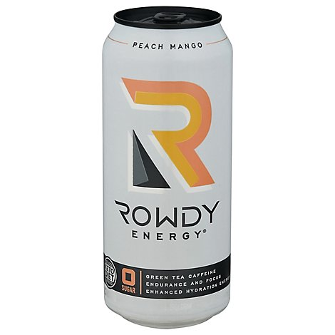 Rowdy Energy Drink Peach Mngo - 16 FZ