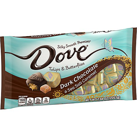 Dove Promises Chocolate Candy Dark Chocolate & Sea Salt Easter - 7.94 Oz