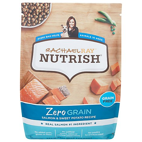 Rachael Ray Nutrish Zero Grain Salmon & Sweet Potato Dog Food - 11.5 LB