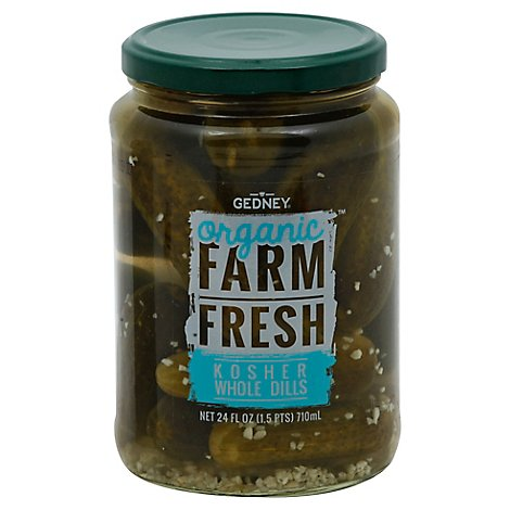 Gedney Pickle Dill Whole Organicickles - 24 OZ