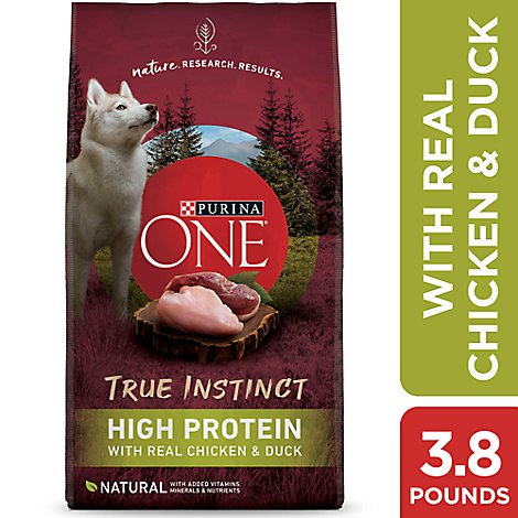 Purina One Smartblend Dog Food True Instinct High Protein With Real Chicken & Duck - 3.8 Lb
