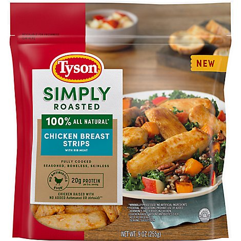 Tyson Simply Roasted Chicken Breast Strips - 9 OZ