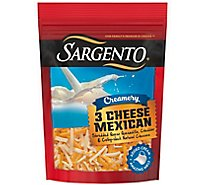 Sargento Creamery 3 Cheese Mexican Blend Cheese Shred - 6 OZ