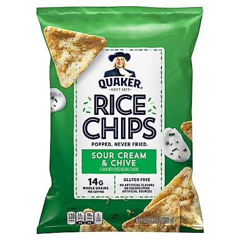 Quaker Rice Chips Sour Cream & Chive - 5.5 OZ