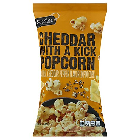 Signature Select Popcorn Cheddar With A Kick - 5.35 OZ