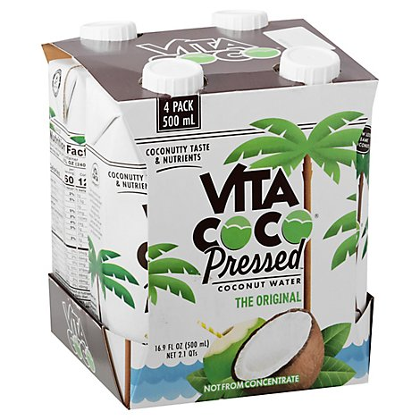 Vita Coco Pressed Coconut Water - 4-16.9 FZ