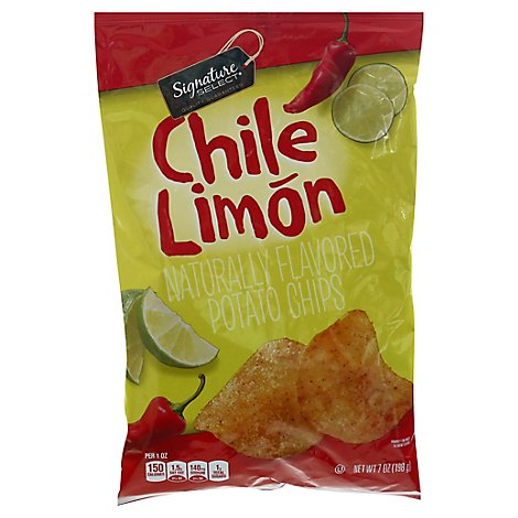 Signature Select Potato Chips Chili Limon - 7 OZ