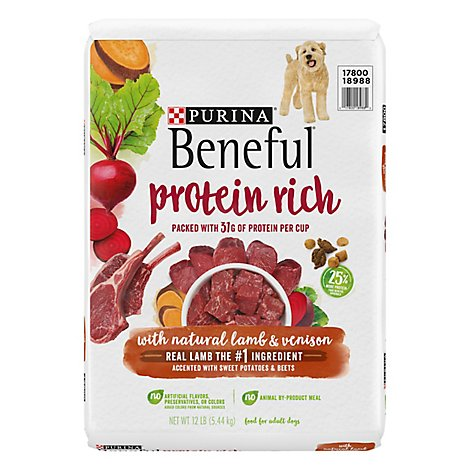Purina Beneful Protein Rich With Lamb Dog Food - 12 LB