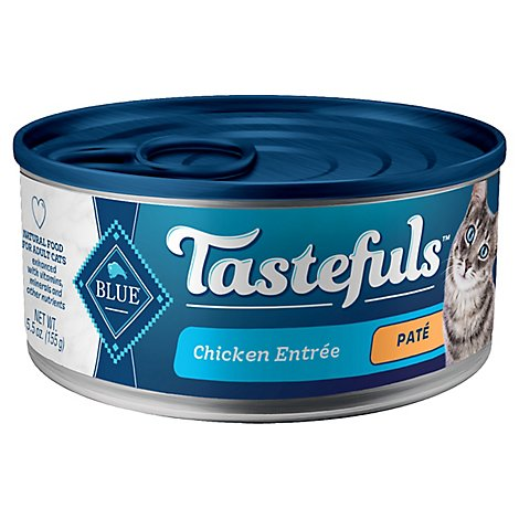 Blue Buffalo Tastefuls Adult Cat Food Chicken Pate - 5.5 OZ