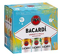 Bacardi Variety 6 Pack Can - 6-12 FZ