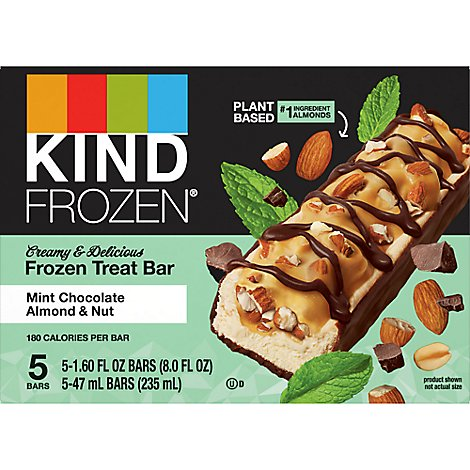 Kind Dark Chocolate Almond Mint Ice Cream Single - 1.6 FZ