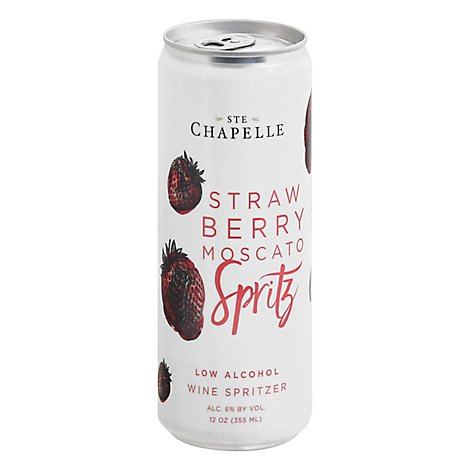 St Chapelle Strawberry Moscato Spritz Wine - 355 ML