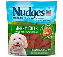 Nudges Natural Dog Treats Health & Wellness Jerky Cuts Made With Real Chicken - 36 Oz