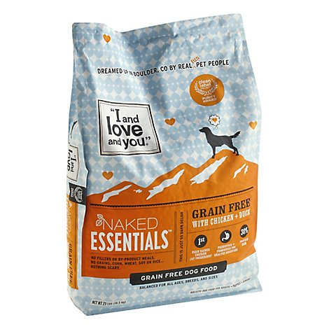 I&love&you Naked Essentials Dog Food Chicken & Duck - 23 LB