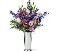 Lux Mixed Valentine Arrangement With Vase - Each (flower colors and vase will vary)