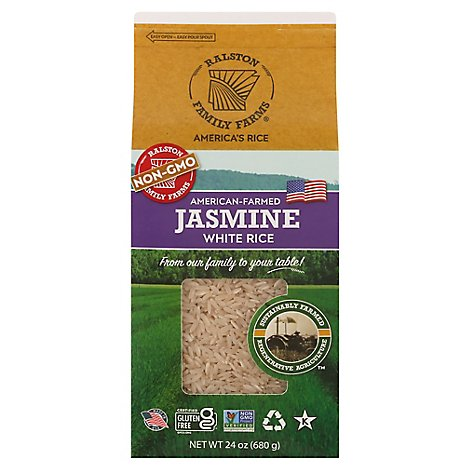 Ralston Family Farms Rice Jasmine White - 24 OZ
