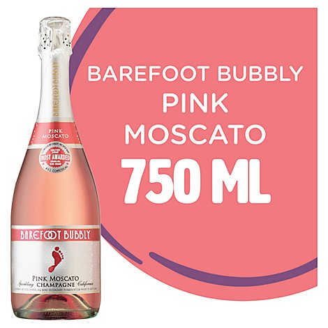 Barefoot Bubbly Pink Moscato Wine - 750 ML