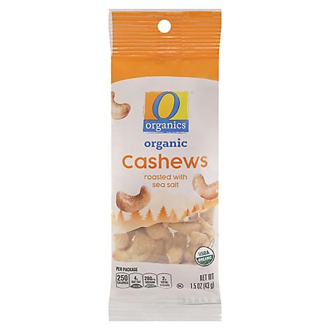 O Organics Cashew Roasted W/sea Salt - 1.5 OZ