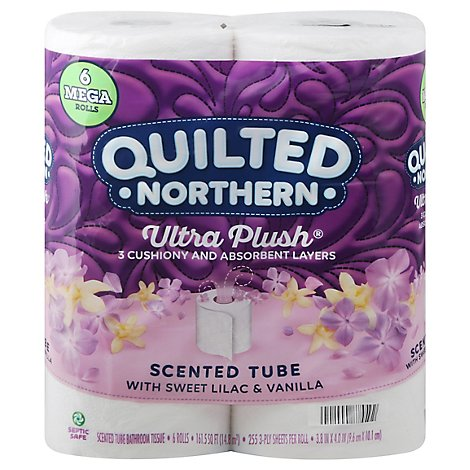 Quilted Northern Ultra Plush 6 Mega Roll Sweet Lilac Vanilla Bath Tissue - 6 RL