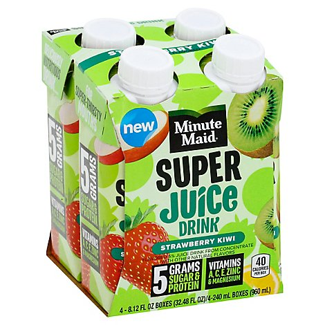 Minute Maid Strawberry Kiwi Super Juice Cartons - 4-8.12 FZ