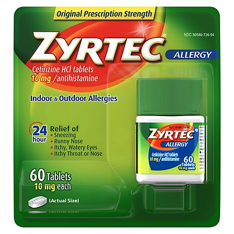 Zyrtec Allergy Tablet - 60 CT