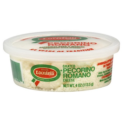 Locatelli Grated Pecorino Romano Cheese - 4 Oz