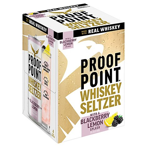 Proof Point Whiskey Hard Seltzer In Can - 4-12 Fl. Oz.