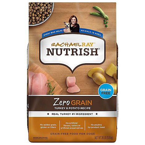 Rachael Ray Nutrish Turkey Zero Grain Dry Dog Food - 26 LB
