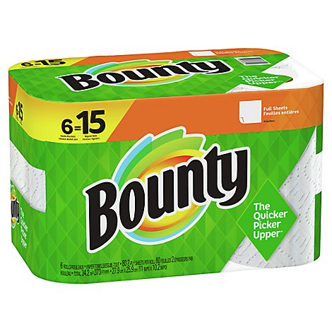 Bounty Paper Towel 2 Ply Regular 6 Roll White - 6 RL