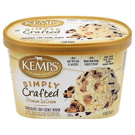 Kemps Chocolate Chip Cookie Dough Ice Cr - 1.5 QT