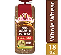 Arnold Small Slice 100% Whole Wheat - 1 CT